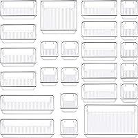 SIUNDAM Lot de 24 Organisateur Maquillage , Plateaux Boîte de Rangement pour tiroir Cosmétiques Plastique Boîte Stockage…