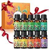 Aceites Esenciales Naturales para Humidificador 10 x 10 ml Luckyfine Aceites Esenciales 100% Puros para Difusor Aromaterapia