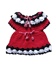 The Creators Baby Girls' Sweater (6-12 Months, Red)