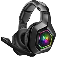 DIZA100 Gaming Headset für PS4 PC Xbox One, 3.5mm Surround Sound Kabelgebundenes ONIKUMA Gaming Kopfhörer mit RGB-Licht…