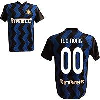 F.C. Inter Maglia Replica Calcio Home Nero Blu Ufficiale Autorizzata Personalizzata Personalizzabile 2020 Eriksen HAKIMI…