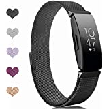 Sport Watch Wristband for Fitbit Inspire Bands and Fitbit Inspire HR Band Stainless Steel Metal Strap Bracelet Loop Replaceme