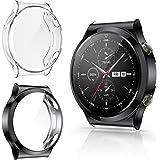 CAVN Protector de Pantalla Compatible con Huawei Watch GT2 Pro, 2-Pack TPU Suave Resistente a los arañazos a Prueba de arañaz
