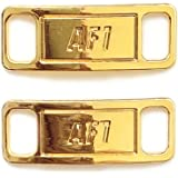Replacement AF1 Air Force Glossy Gold Lace Tag Lock