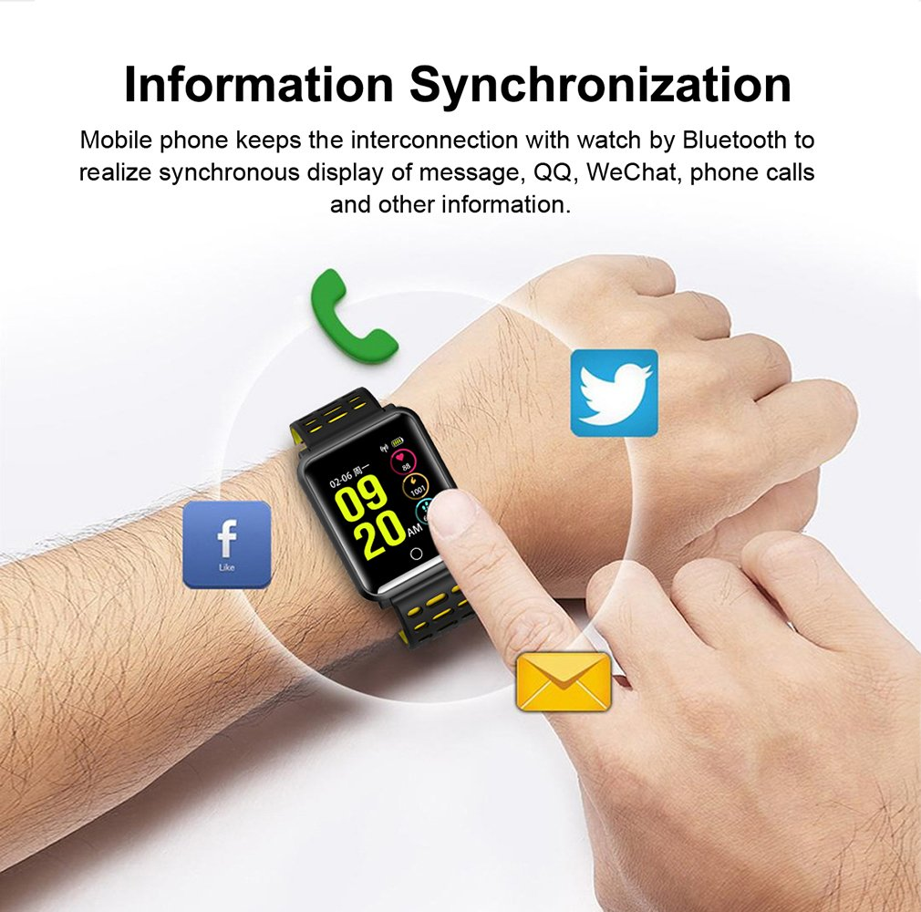 TagoBee TB06 IP68 a Prueba de Agua Smart Watch HD Touch Screen Fitness Tracker Soporte de presión Arterial frecuencia… 3
