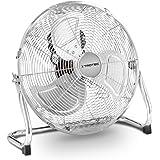 TROTEC Bodenventilator Windmaschine TVM 14 | 44 Watt Leistung | Durchmesser 35 cm | 3 Geschwindigkeitsstufen | Chrom-Design