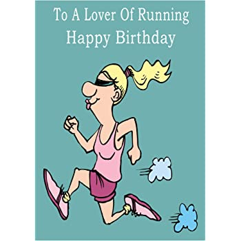 Running Happy Birthday Card: Amazon.co.uk: Office Products