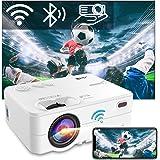 """Beamer WiFi Bluetooth, Artlii Enjoy2 Mini Beamer 1080p Full HD Ondersteund, Projector 6000 Lumen Max 300"""" Scherm, Mini Projec"""
