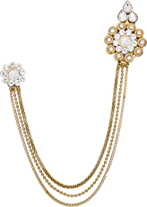 The Luxor Gold Plated Alloy Saree Brooch for Women & Girls (ACC6145)
