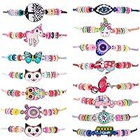 ZITFRI 15 PCS Bracelet Amitié Enfant Bijoux pour Fille Cadeaux Anniversaire Bracelets Tressés Licornes