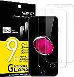 NEW'C Lot de 2, Verre Trempé pour iPhone 7 et iPhone 8, Film Protection écran - Anti Rayures - sans Bulles d'air -Ultra…