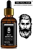 The Real Man Beard Growth Oil 100 Percent Organic Beard and Moustache Hair Growth Oil, 50ml