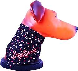 DogSpot Floral Print Reversible Bandana, Medium (Color May Vary)
