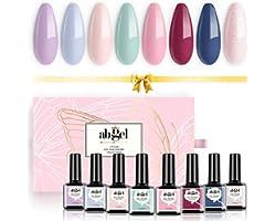 Set di smalti per unghie gel UV Angel Collezione regalo 8 colori, Soak Off Nail color viola Pastello Blu Verde Rosso Set di s