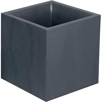 EDA Plastiques 13730 G.ANT SX1 Volcania Bac Carré Plastique Gris Anthracite 40 x 40 x 40 cm