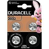 Duracell 2032 Pile bouton lithium 3V, lot de 4, avec Technologie Baby Secure, pour porte-clés, balances et dispositifs portab