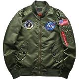 sandbank Men's Bomber Waterproof Jacket Patches Coat Flight Windproof Windbreaker