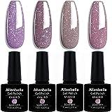 Allenbelle Smalto Semipermanente Nail Polish UV LED Gel Unghie (Kit di 4 pcs 7.3ML/pc) (3301)