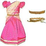 Amirtha Fashion Girls Traditional Lehenga Choli RUDHURA FANCY HALF SAREE WITH WAIST BELT (AMFRFHSP)