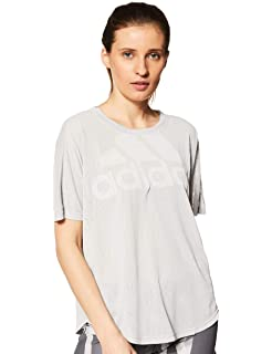 adidas Magic Logo Tee - T-Shirt de Sport - Femme  Amazon.fr ... 63b1994862e
