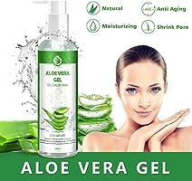 Aloe Vera Gel Bio 100% - für Gesicht, Haare und K?rper - Natürliche, beruhigende und pflegende Feuchtigkeitscreme -...