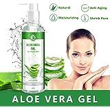 Aloe Vera Gel 100% Pur - für Gesicht, Haare und Körper - Natürliche, beruhigende und pflegende Feuchtigkeitscreme - Ideal für