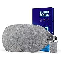 Mavogel Mascherina per dormire, in cotone, con design aggiornato Maschera per dormire, morbida e confortevole, per gli…