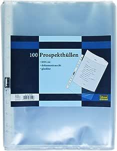 Prospekthüllen 100 Stück A4 genarbt  Idena dokumentenecht 60µ