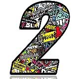 Biomar Labs® Número 2 DC Bomb Calavera Vinilo Adhesivo Pegatina Coche Auto Motocross Moto Sport Start Racing Tuning N 202