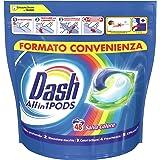 Dash All in 1 Pods Detersivo Lavatrice in Capsule, 48 Lavaggi, Salva Colore, Maxi Formato, Rimuove le Macchie, per Tutti i Ca
