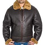 B3 giacca di montone Aviator uomo. Realizzata in vera pelle.