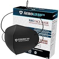 AeroGrid FFP2 (Pack of 1, Black) Adjustable Head Loop Reusable N95 Mask for Unisex