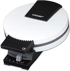 Cloer 181 Waffelautomat für kuchenartige Waffeln / 930 W/Backfläche mit 20 cm Durchmesser/schwere Backplatten/optische und akustische Fertigmeldung