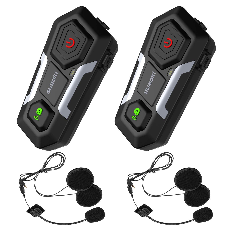 731b9b4bd7e oferta en SUAOKI Auriculares Intercomunicador Moto, Bluetooth 3.0 ...
