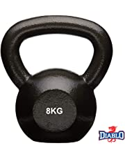 DIABLO Powder Coated Solid Cast Iron Kettlebell Weights (Weight 8KG)