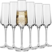 Krosno Flute Cristal de Champagne Verre | Lot de 6 | 180 ML | Collection Avant-Garde | Parfait la Maison, Les…