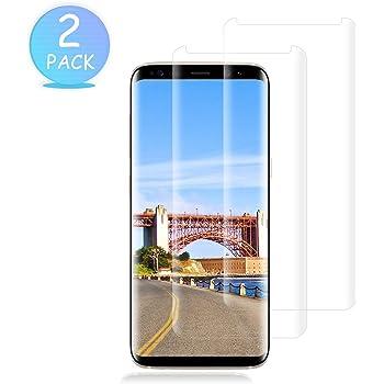 KOFOHO Verre Trempé Galaxy S8, [Lot de 2] Film Protection en Verre trempé écran Protecteur Vitre pour Samsung Galaxy S8 Anti Rayures,Ultra Résistant Dureté 9H Glass Screen Protector