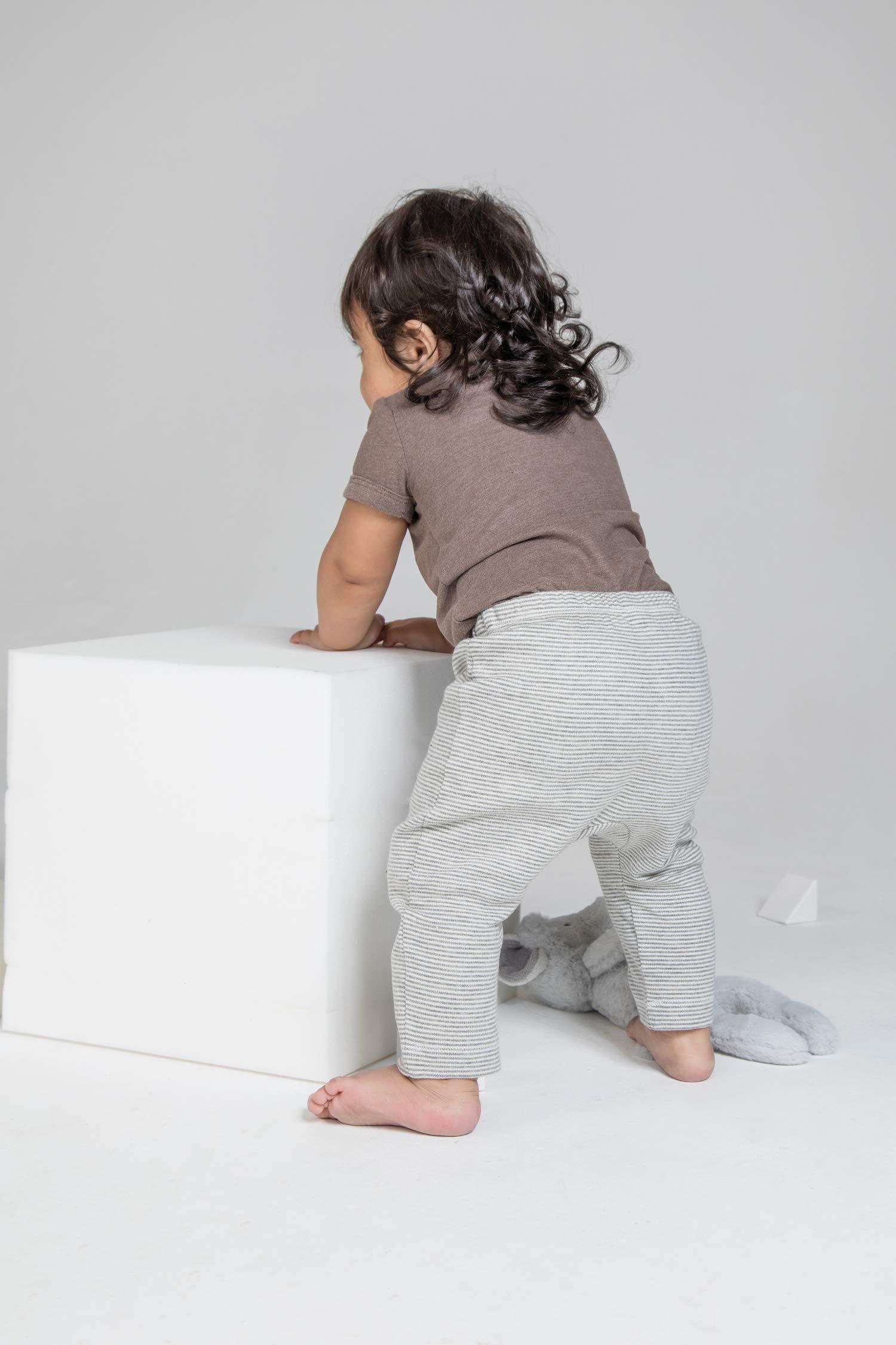 Babybugz polainas de jersey de bebe a rayas Pantalones para ninos pequenos 3