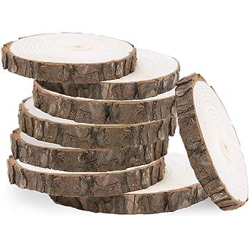 Holzscheibe mit St/änder NaDeco Baumscheibe Dekotablett mit Metallf/ü/ßen /Ø ca 20cm Deko Baumscheibe Baumstammpodest Baumstamm Untersetzer