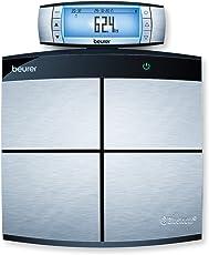 Beurer BF 105 Diagnosewaage, zur Ganzkörperanalyse, mit App, XXL-Display, Körperfett