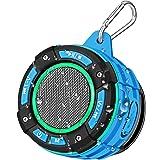 BassPal Draagbare bluetooth-luidspreker, IPX7, waterdicht, met luid HD-geluid, lichtshow, zuignap, stabiele haak, draadloze m