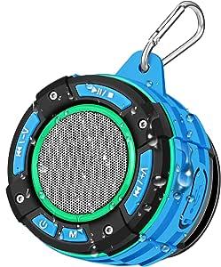 Altoparlante Bluetooth Portatile da Doccia, BassPal Cassa Bluetooth Impermeabile IPX7 con Stereo HD, Spettacolo di Luci, Ventosa, Gancio Robusto, Altoparlante Senza Fili per Sport, Piscina, Spiaggia