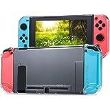 Tasikar Dockbart skyddsfodral kompatibelt med Nintendo Switch separerbart kristallklart skyddsfodral kompatibelt med Nintendo