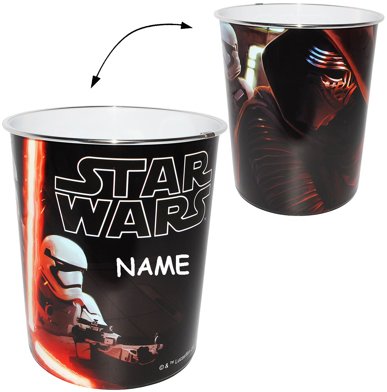 "Papierkorb   "" star wars ""   incl. name   kunststoff   mülleimer ..."
