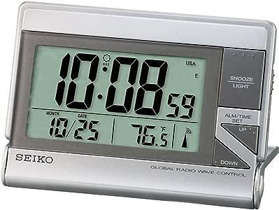 Seiko Clocks QHR024S Réveil Digitale Eclairage