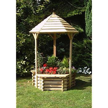 Extra Large Wooden Garden Wishing Well Planter 4ft High Garden