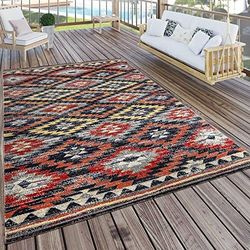 Paco Home In- & Outdoor Teppich Modern Zickzack Muster Terrassen Teppich Wetterfest Bunt, Grösse:200x280 cm