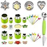 BSET BUY 33 Pcs Emporte-pièce Légumes Emporte-pièce en Acier Inoxydable pour Gâteaux Biscuits Sushi Fruits Coupe-Légumes…