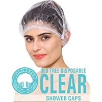 Old Tree Shower Cap (Clear White) - Pack Of 50