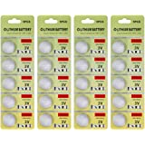 Fortune CR2025 3V Lithium Battery,Electronic Button Cell batteries for Toys Calculators Watches Led Light Candles (20 pcs)